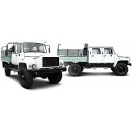 Бортовой автомобиль ГАЗ-3308 с двухрядной кабиной